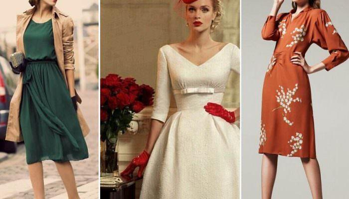 Платья для настоящих леди: осовремененное ретро!