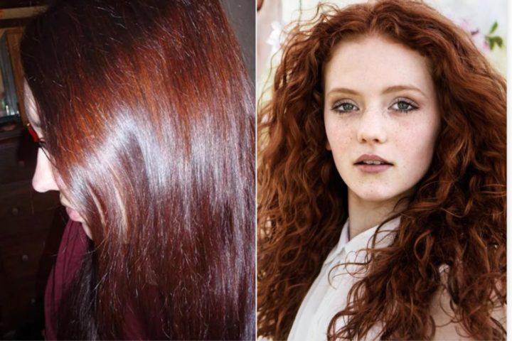 Окраска окрашенных волос хной