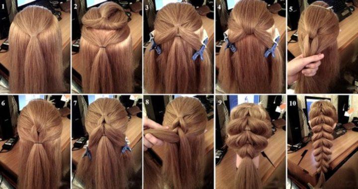 Разбирая простые прически для девочек на длинные волосы, нельзя не упомянуть о хвостах.