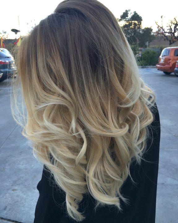 Окрас волос омбре на средние волосы фото