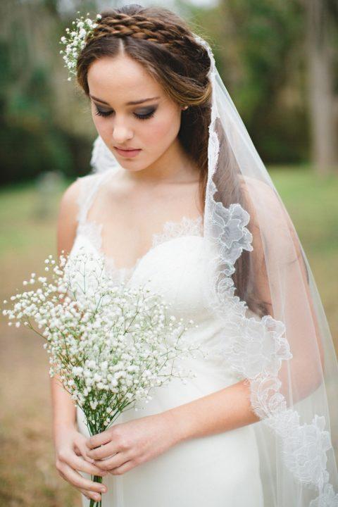 Современные свадебные прически  фото