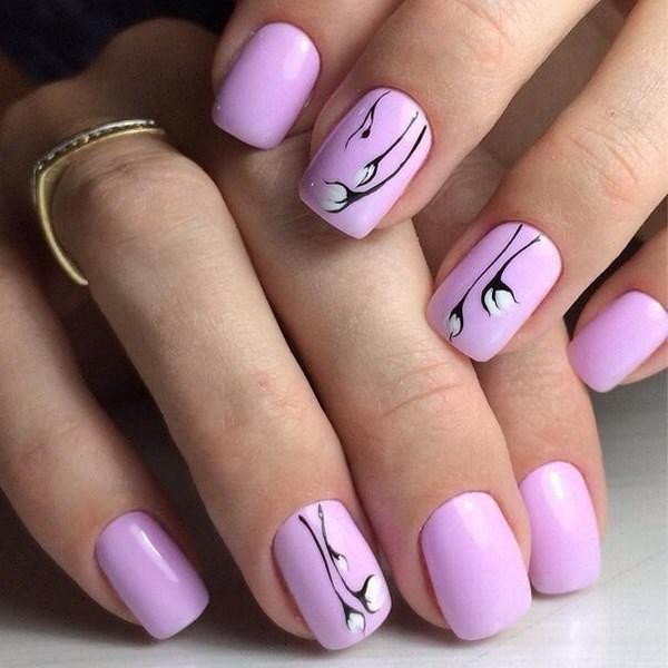 Красивый Осенний Дизайн На Короткие Ногти