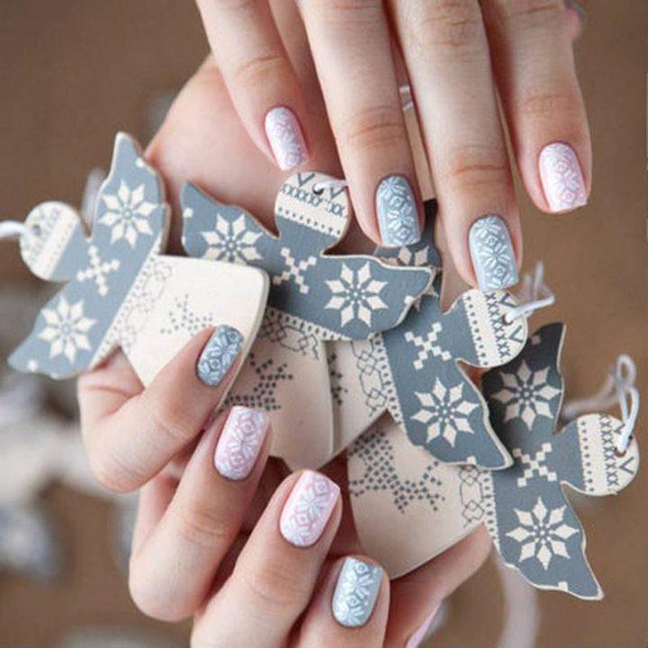 Зимние картинки с ногтями