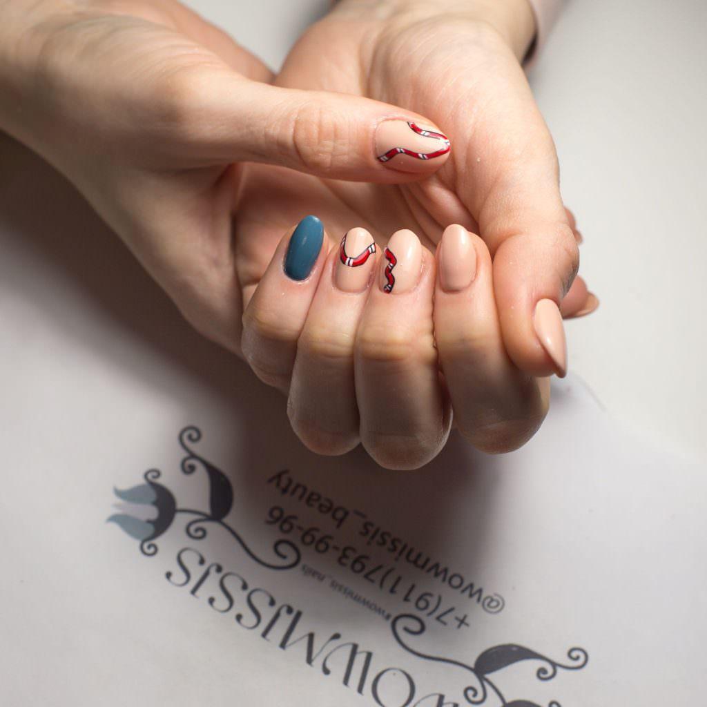 Овальные ногти с маникюром 2019 (42 фото)
