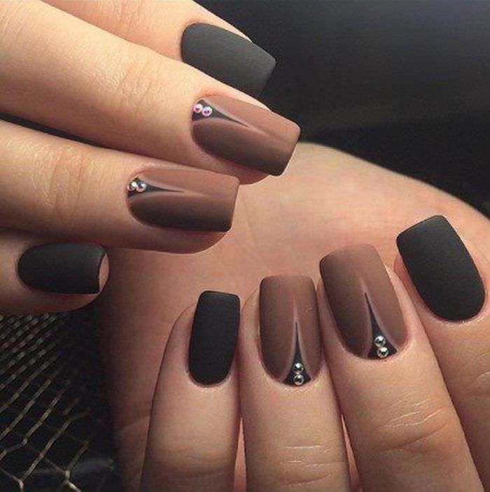 Шикарные ногти с коричневым маникюром (25 фото)