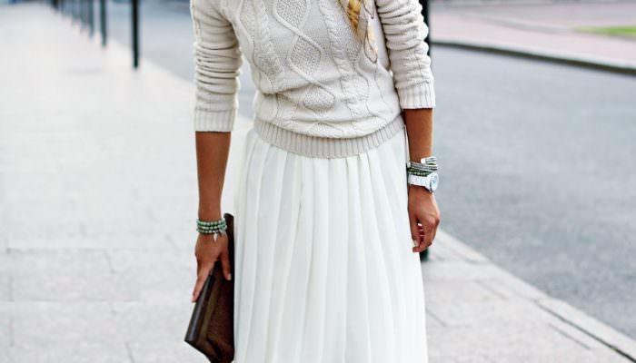С чем носить белую юбку? (51 фото идея)