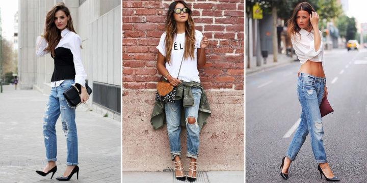 65192e27135 Как выбрать и с чем носить джинсы бойфренды  Модные образы для всех ...