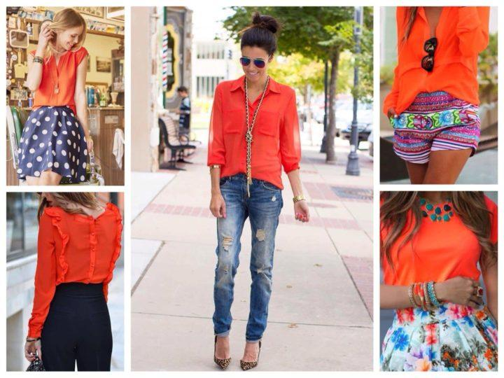 с чем одеть оранжевую блузку фото слетел