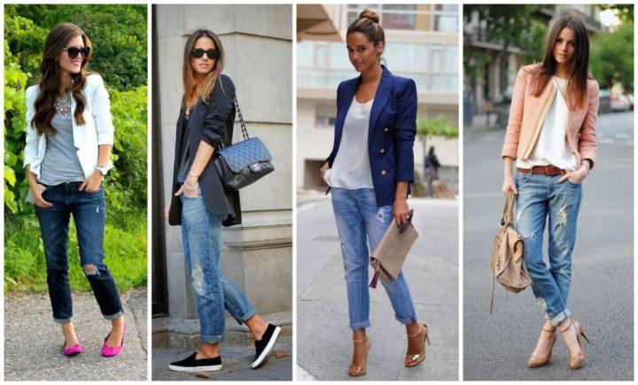 С чем носить джинсы бойфренды зимой и в теплые сезоны, с какой обувью
