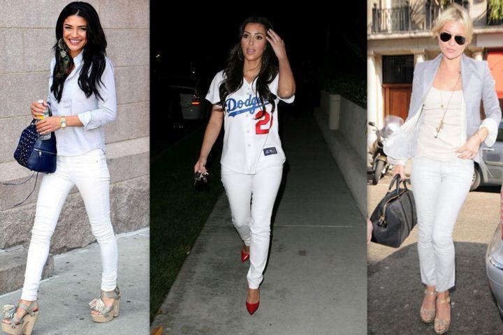 экспериментатор белые штаны женские с чем носить фото снова смутилась