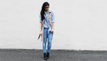 С чем носить джинсы? (52 фото)