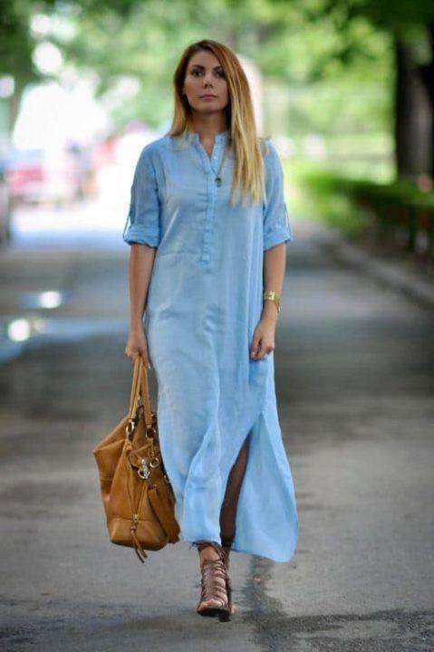 Легенда вкуса - платье-рубашка (58 фото)