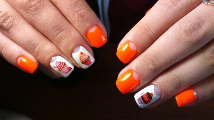 Оранжевый маникюр — яркий, сочный, заметный! (53 фото)