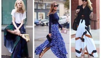 Отличные идеи с чем носить широкие и прямые юбки (78 фото)