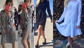 Легенда вкуса — платье-рубашка (58 фото)