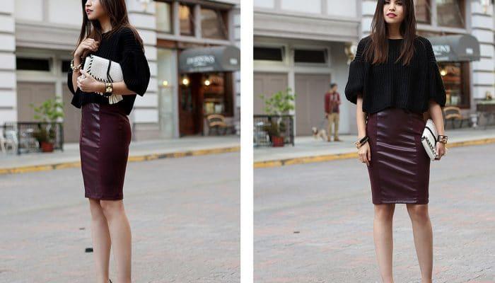 С чем носить юбку с завышенной талией? (51 фото)