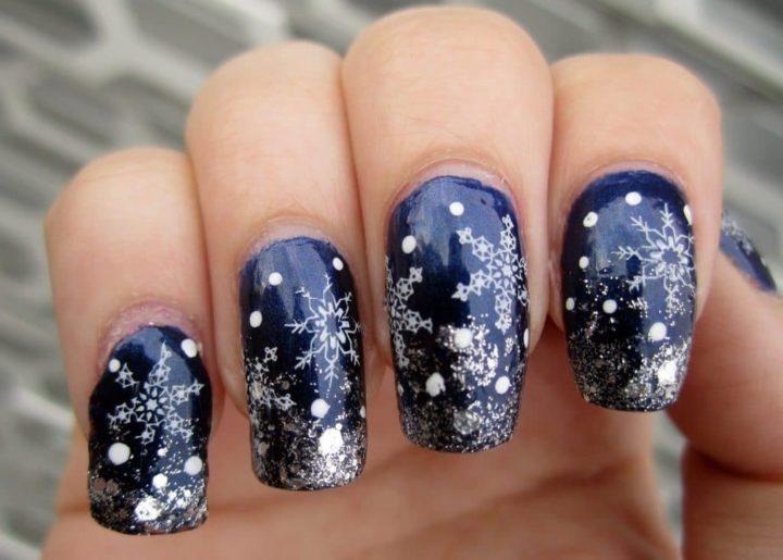 картинки нарощенных ногтей с рисунком зимы реберного горба