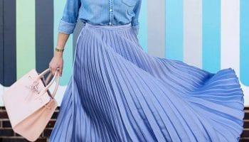 Плиссированная юбка — вариант на каждый день (51 фото)