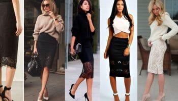 С чем надеть кружевную юбку: советы для стильных женщин (57 фото)