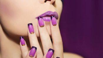 Фиолетовый маникюр: особенности, идеи, новинки (51 фото)