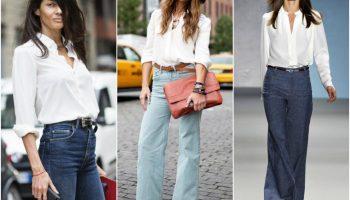 С чем носить брюки с завышенной талией (52 фото)