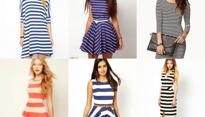 Платье в полоску — делаем правильный выбор (50 фото