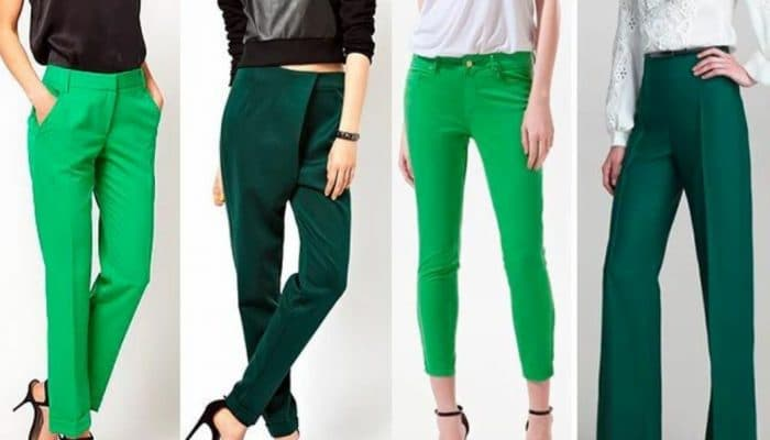 С чем носить зеленые брюки? (50 фото)