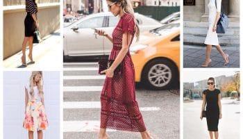 С какой обувью носить платья? (70 фото)