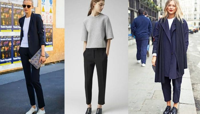 Укороченные брюки — носим правильно ( 50 фото)