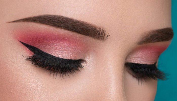 Милый розовый макияж (51 фото)