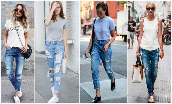 С чем носить джинсы с завышенной талией? (50 фото)