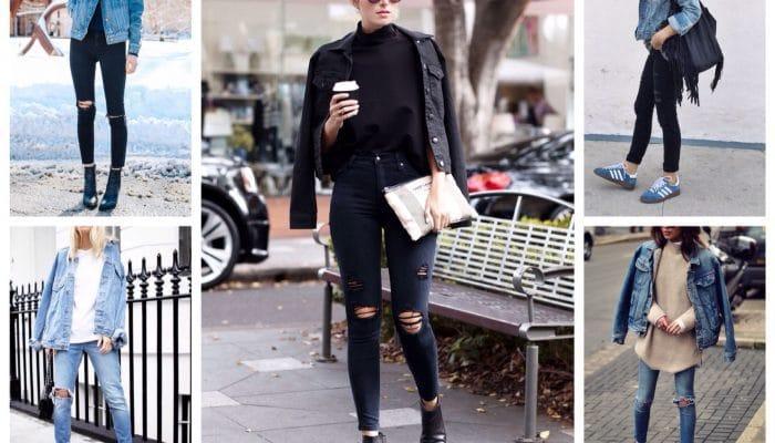С чем носить джинсовую куртку? (54 фото)