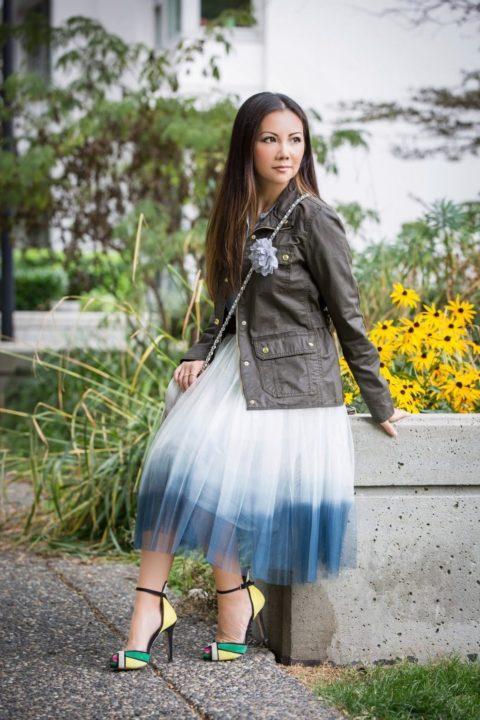С чем носить юбку из фатина (50 фото)