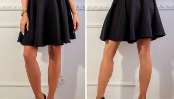 С чем носить юбку-клеш (52 фото)