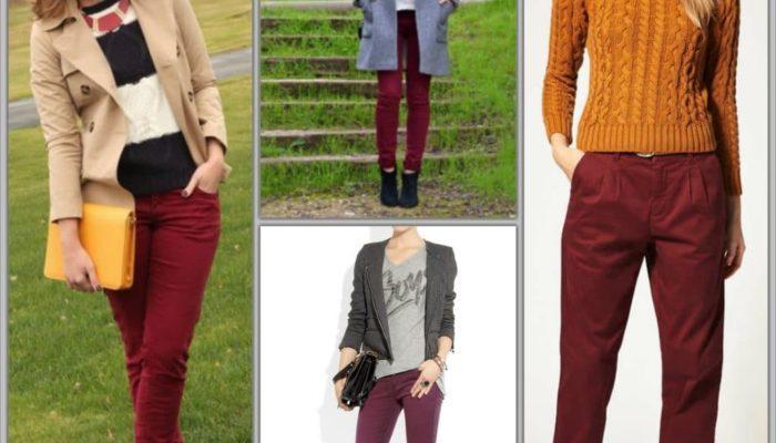 Как правильно носить вещи бордового цвета (57 фото)