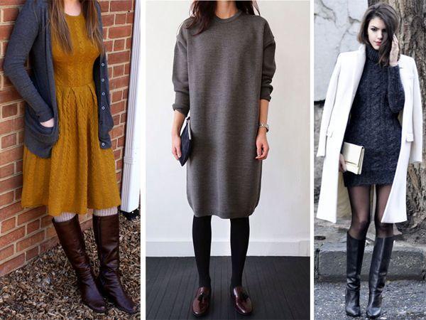 с чем носить платье короткие миди и длинные все фасоны и цвета
