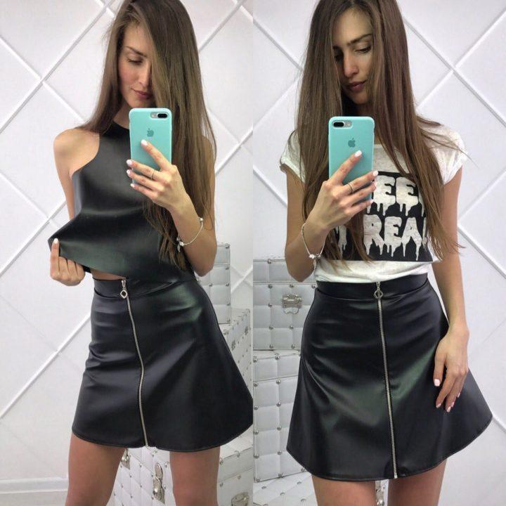 Интересная юбка-трапеция (50 фото)