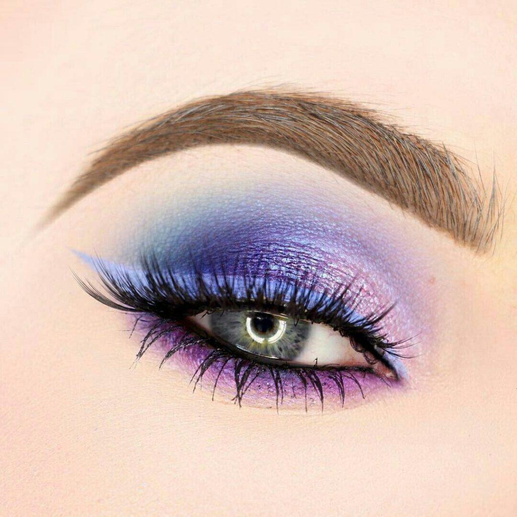 одной макияж в фиолетовых тонах пошаговое фото картинки