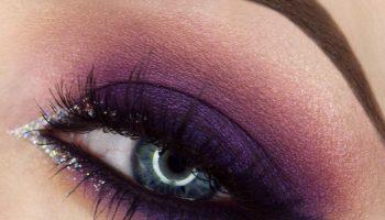 Дерзкий фиолетовый макияж (53 фото)