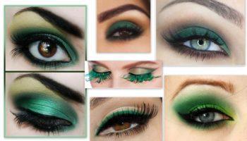 Яркость зеленого макияжа (51 фото)
