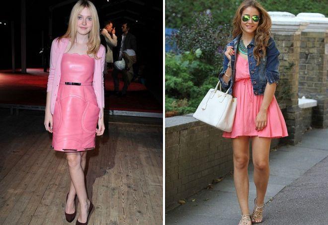 10d3573532b Хорошо смотрится нежно-розовое платье в сочетании с рубашкой или курткой из  денима.