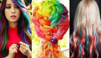 Окрашивание волос пастельными мелками (40 фото)