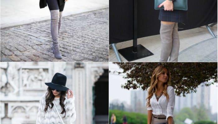 С чем носить замшевые сапоги и ботинки (56 фото)