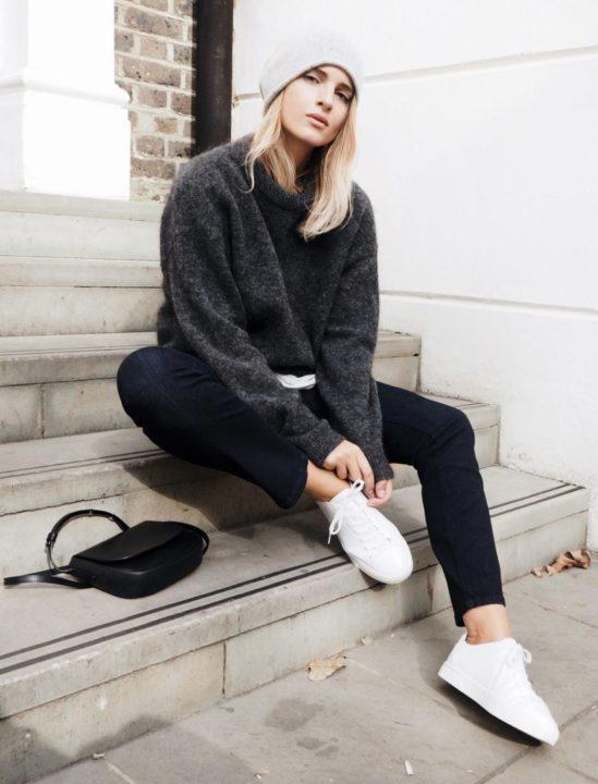 Черные джинсы — лучший вариант на каждый день (50 фото)