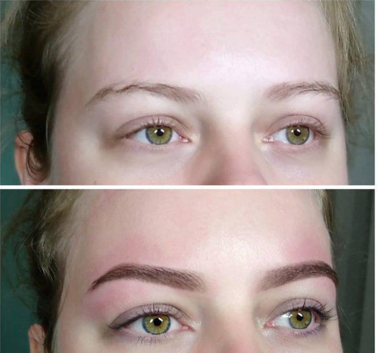 Художественное оформление бровей фото до и после