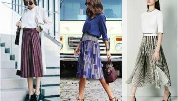 С чем носить юбку плиссе (51 фото)