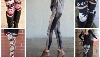 С чем носить леггинсы по временам года, а также модные и необычные идеи (фото 200+)