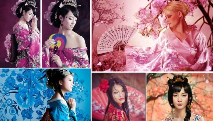 Японский макияж (47 фото)