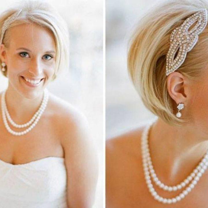 Свадебные прически на короткие волосы (55 фото)