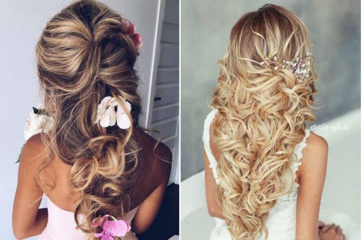 Объемные свадебные прически для длинных волос